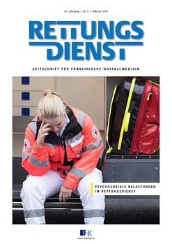 Rettungsdienst 2/2018 - Psychosoziale Belastungen im Rettungsdienst