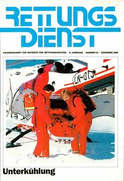 RETTUNGSDIENST 12/1986