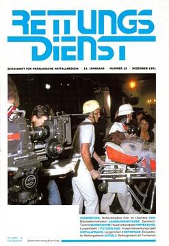 RETTUNGSDIENST 12/1991