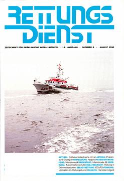 RETTUNGSDIENST 08/1990
