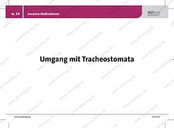 Lernkarte Rettungsdienst: Umgang Tracheostoma
