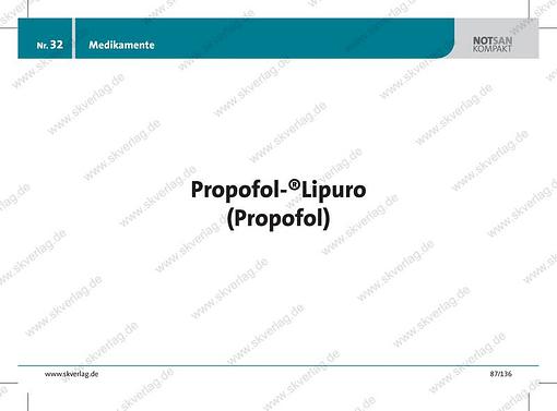 Lernkarte zum Wirkstoff Propofol