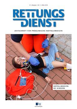 Rettungsdienst 3/2018 - Notfallmedizin bei Kindern