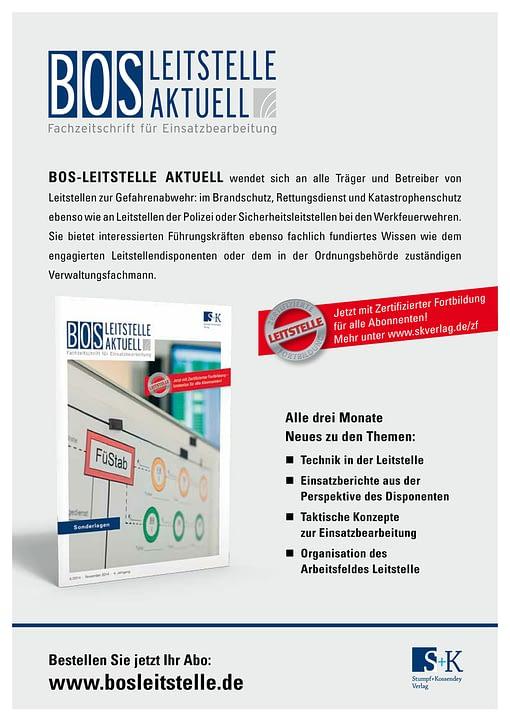 BOS LEITSTELLE AKTUELL 4/2014 - Sonderlagen