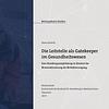 Cover der Masterarbeit von Maren Bartels zum Thema Die Leitstelle als Gatekeeper im Gesundheitswesen