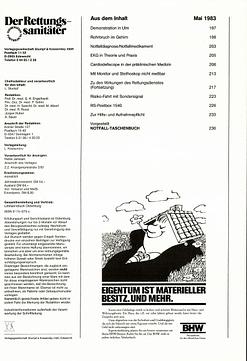 Der Rettungssanitäter 05/1983