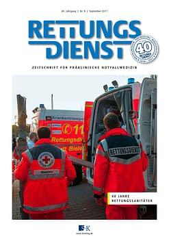 Rettungsdienst 9/2017 - 40 Jahre Rettungssanitäter