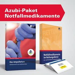 Azubi-Paket Notfallmedikamente  - Einführungswerk und Taschenkarten zur präklinischen Pharmatherapie