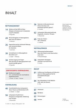 Rettungsdienst 10/2018 - Leitsymptome im Rettungsdienst