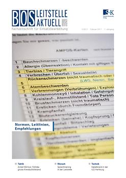 BOS LEITSTELLE AKTUELL 1/2017 - Normen, Leitlinien, Empfehlungen