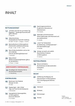Rettungsdienst 8/2018 - Arbeitstechniken im Rettungsdienst