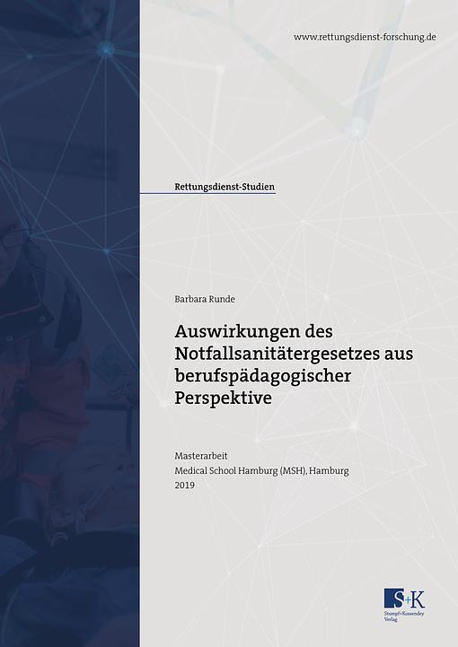 Titelbild der Masterarbeit von Barbara Runde zum Thema uswirkungen des Notfallsanitätergesetzes aus berufspädagogischer Perspektive