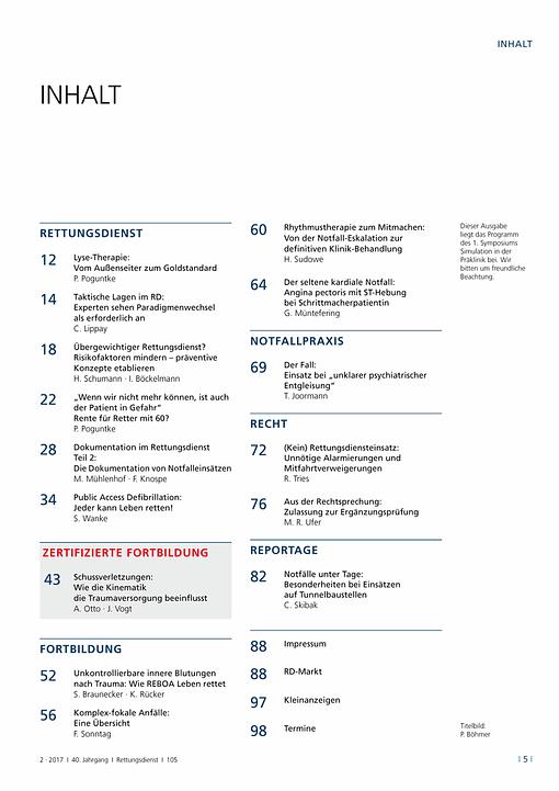 Rettungsdienst 2/2017 - Kolibris in der Notfallmedizin