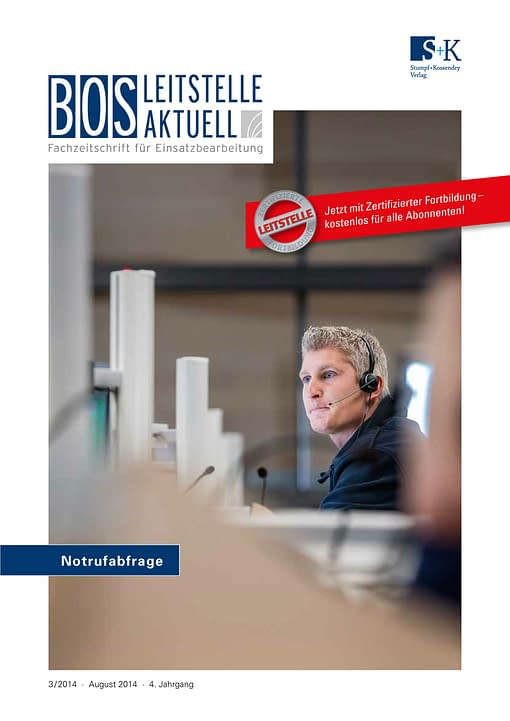 BOS LEITSTELLE AKTUELL 3/2014 - Notrufabfrage