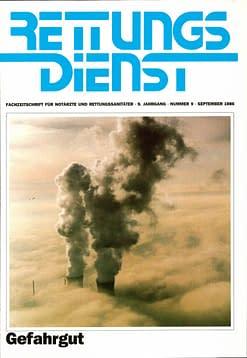 RETTUNGSDIENST 09/1986