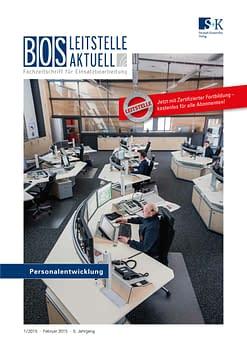 BOS LEITSTELLE AKTUELL 1/2015 - Personalentwicklung