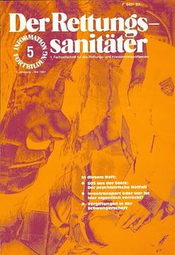 Der Rettungssanitäter 05/1981