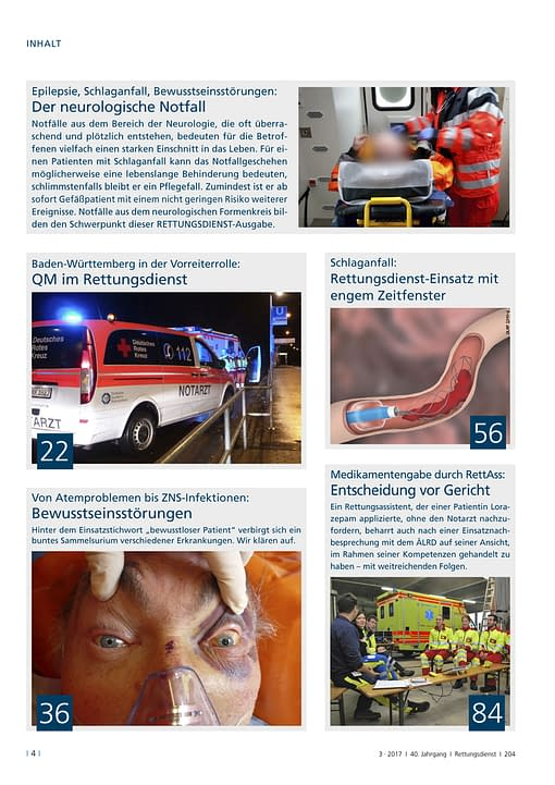 Rettungsdienst 3/2017 - Neurologische Notfälle