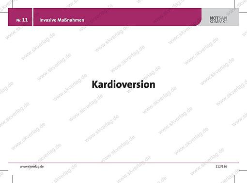 Lernkarte Rettungsdienst: invasive Maßnahmen der Kardioversion