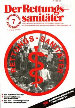 Der Rettungssanitäter 07/1982
