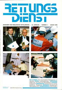 RETTUNGSDIENST 08/1992