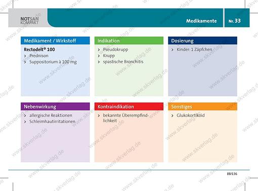Antwortkarte zum Wirkstoff Prednison