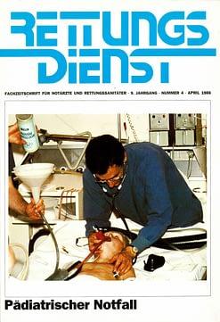RETTUNGSDIENST 04/1986