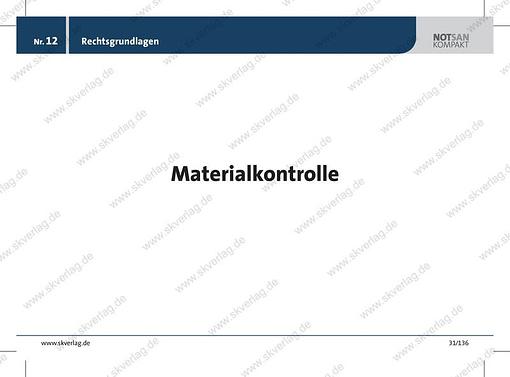 Lernkarte zur Materialkontrolle