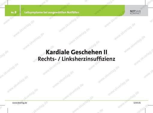 Lernkarte Rettungsdienst: Herzinsuffizienz als Leitsymptom
