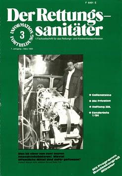 Der Rettungssanitäter 03/1984